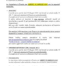RIAPERTURA CANILE AL PUBBLICO