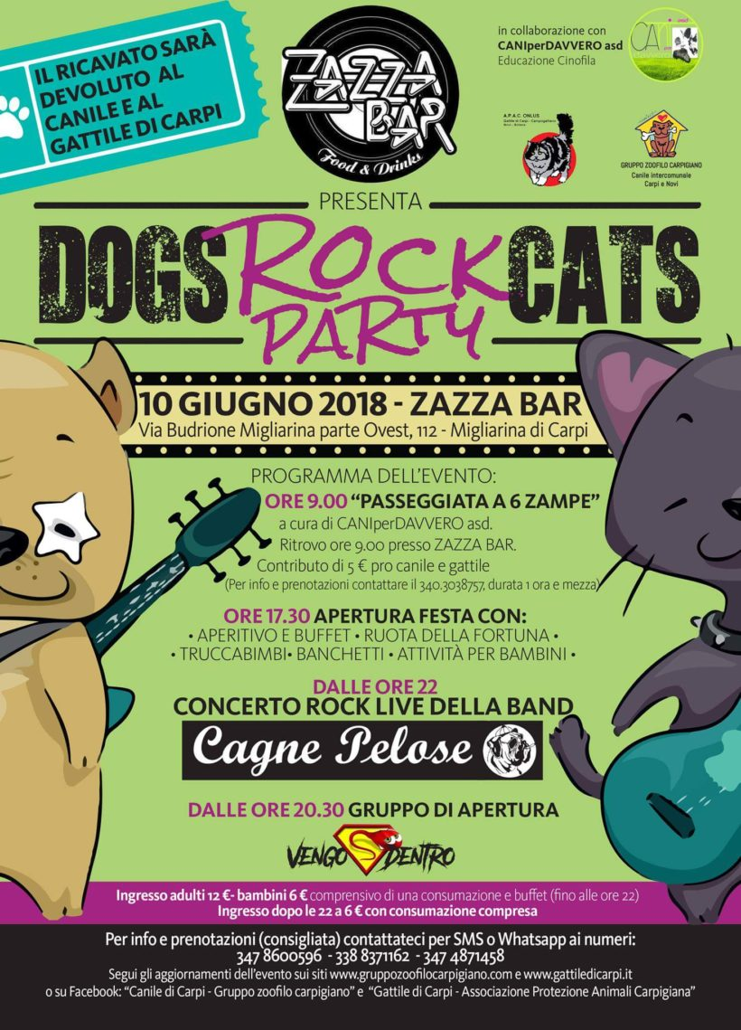 🤘🐶🎶DOGS & CATS ROCK PARTY🎶🐱🤘